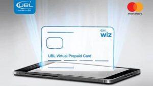 UBL Wiz Virtual prepaid card